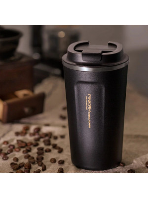 Pinkah 380& 500ml 304 Stainless Steel Thermo Cup Travel Coffee Mug with Lid Car Water Bottle Vacuum Flasks Thermocup for Gift