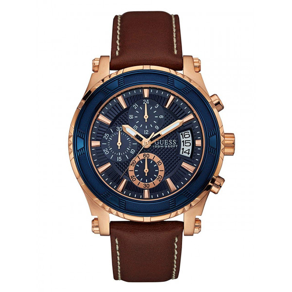 GUESS Men's  Leather Watch