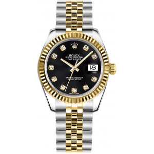 Date Just 31 Black Dial Women's Watch
