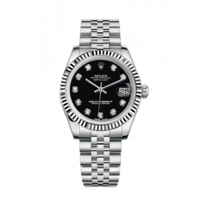 Date Just 31 Black Dial Silver  Women's Watch