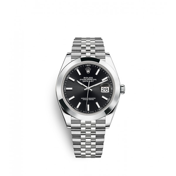 Date Just Black Dial For Men