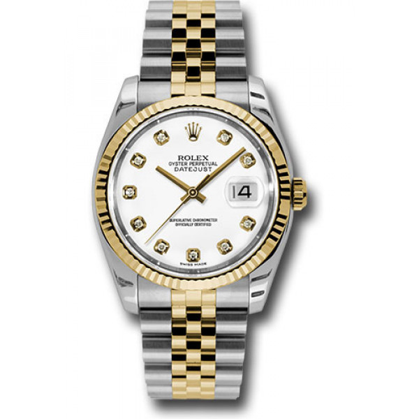 Lady Date Just Half Gold White Dial For Woman