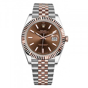Date Just Brown Dial For Men