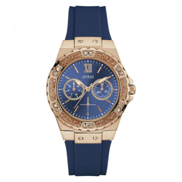 Guess Limelight Rose Gold Blue Dial Women