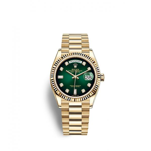 Day Date 36 all gold Green dial woman