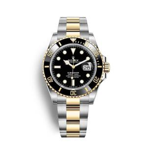 Submariner Half Gold Black 18k Plated