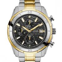 GUESS Men's Silver and Half Gold 18k -Tone Chronograph Watch Original
