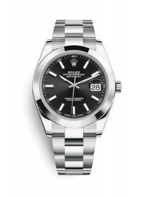 Date Just Black Dial 2021