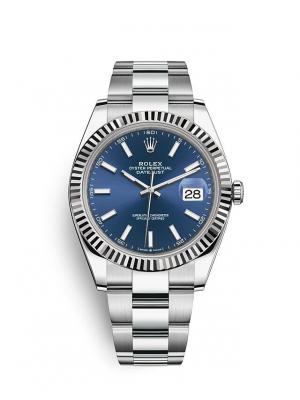 Date Just Blue Silver 41m