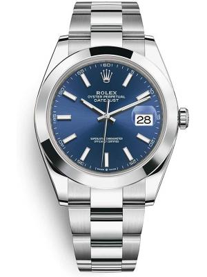 Date Just Blue Silver 41m V2